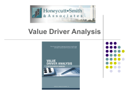 This Value Driver Analysis will focus on