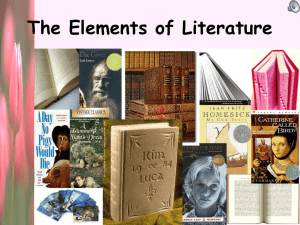 PowerPoint Presentation - The Elements of Literature