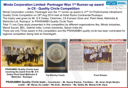 Pantnagar Won 1st Runner