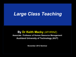 Large Class Teaching By Dr Keith Macky