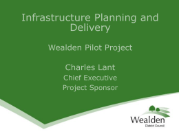Infrastructure Planning and Delivery