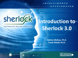 Introduction to Sherlock 3.0