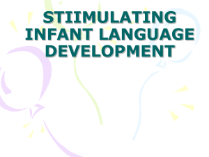 Infant Language Stimulation