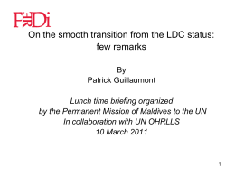 Making smooth the transition when LDCs graduate - UN