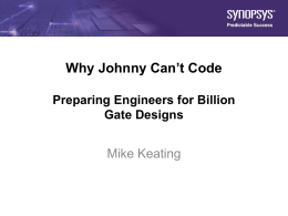 Why Johnny Can`t Code