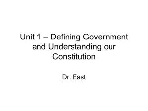 Unit 1 – Constitutional Underpinnings of Government