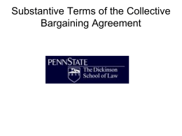 of the Collective Bargaining Agreement