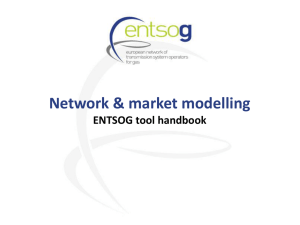Network modelling based on the capacity sale model