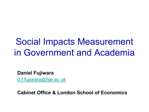 Social Impact Measurement in Government and Academic