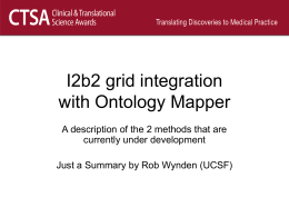 I2b2 grid integration