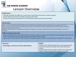 Lesson Resource Pack - Manor Sociology