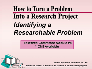 From problem to research