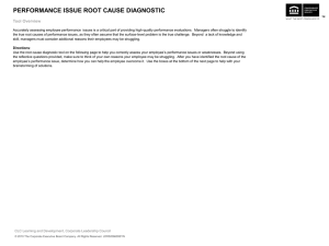 Performance Issue Root Cause Diagnostic Tool