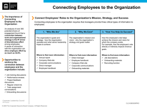 Connecting Employees to the Organization