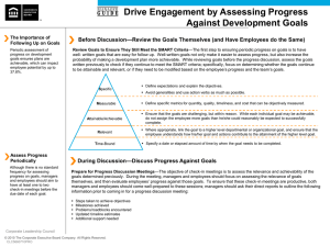 Drive Engagement by Assessing Progress Against Development
