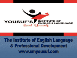 SMYOUSUF Teacher`s Training Presentation