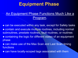 Equipment Phase