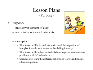 Lesson Plans (Purpose)