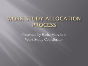 Work Study Allocation Process