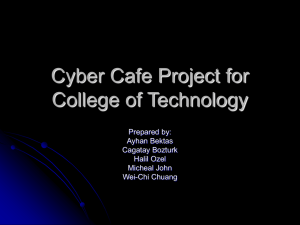 Cyber Cafe Project for College of Technology