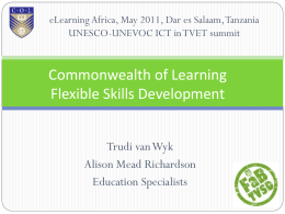 Flexible Skills Development - UNESCO