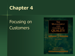 Focusing on Customers