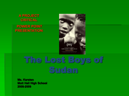 PowerPoint: The Lost Boys of Sudan