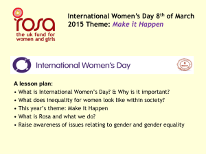 What is International Women`s Day?