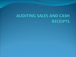 auditing sales and cash receipts