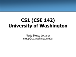 CSE 142 Python Slides - University of Washington