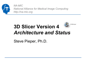 2011_AHM-Slicer4 - National Alliance for Medical Image