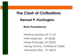 Clash of Civilizations - iscte-iul