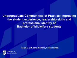 Undergraduate Communities of Practice