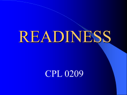 READINESS - Militarytraining.net