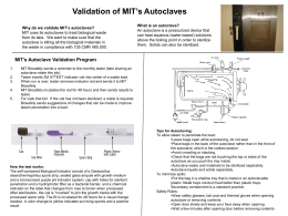 Autoclave validation poster - EHS