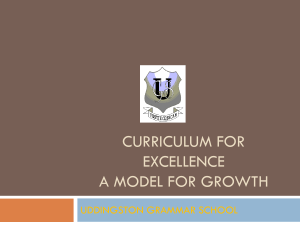 Curriculum for excellence parents