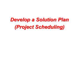 Develop a Solution Plan