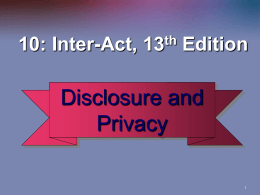Chapter10_Disclosure and Privacy