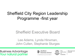 Sheffield City Region Leadership Programme