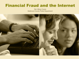 Internet Fraud - Baltimore County Public Schools