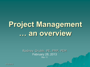 Project Management Training Outline