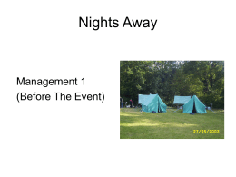 Nights Away - Scouts.org.uk