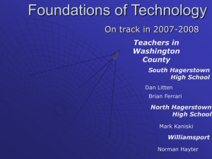 Overview - Foundations of Technology