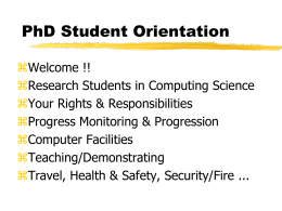 PhD Student Orientation - Homepages | The University of Aberdeen