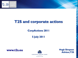T2S - Capital Markets Events