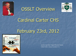 Short Writing Task - Cardinal Carter Catholic High School