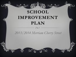 2013-2014 School Improvement Plan PowerPoint Presentation