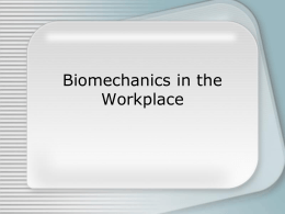 Biomechanics - Knox County Government