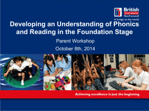 Developing anUnderstanding of Phonics an