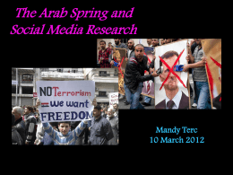 The Arab Spring and Social Media Research